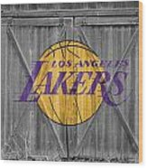Los Angeles Lakers Wood Print by Joe Hamilton