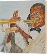 Louis Armstrong 2 Wood Print by Katie Spicuzza