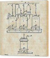 Louis Pasteur Beer Brewing Patent 1873 - Vintage Wood Print