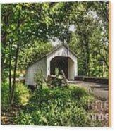 Loux Covered Bridge Wood Print