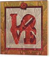 Love Wood Print