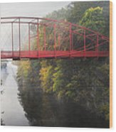 Lovers Leap Bridge Wood Print