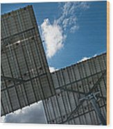 Low Angle View Of Solar Panels Wood Print