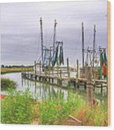 Lowcountry Shrimp Dock Wood Print