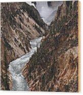 Lower Falls Of The Yellowstone Wood Print
