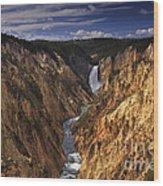 Lower Yellowstone Falls II Wood Print
