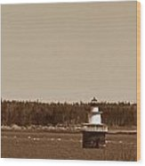 Lubec Channel Lighthouse Wood Print