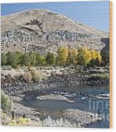 744p Lucky Peak Dam Sandy Point Id Wood Print