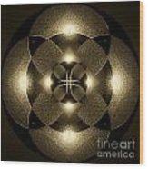 Luminous Mandala Wood Print