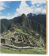Machu Picchu Panorama Wood Print