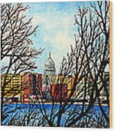 Madison Treed Wood Print