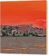 Louisiana Sunset Of The Madisonville Lighthouse  Wood Print