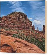Madonna And Child Two Nuns Rock Formations Sedona Arizona Wood Print