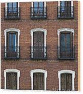 Madrid Wood Print by Frank Tschakert