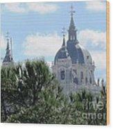 Madrid Skyline Wood Print