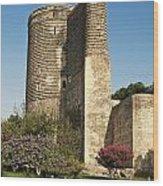 Maidens Tower In Baku Azerbaijan Wood Print