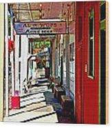 Main Street Locke California Wood Print
