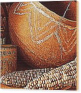 New Orleans Maize The Indian Corn Still Life In Louisiana  Wood Print