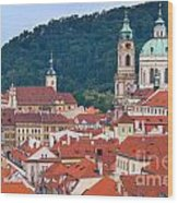Mala Strana In Prague  Wood Print