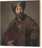 Man In Oriental Costume Wood Print