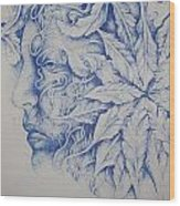 MAN Wood Print by Moshfegh Rakhsha