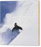 Man Skiing In Colorado Wood Print