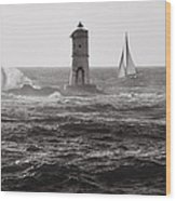 Mangiabarche's Lighthouse Wood Print