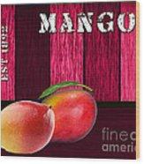 Mango Farm Sign Wood Print