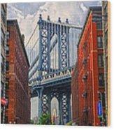 Manhattan Bridge View Wood Print