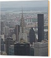 Manhattan From The Empire State Building Wood Print