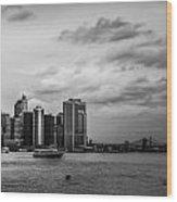 Manhattan Skyline Right Triptych Wood Print