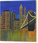 Manhattan Skyline Wood Print by Shruti Prasad