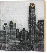 Manhattan View Wood Print
