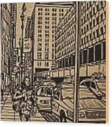 Manhattan Wood Print by William Cauthern