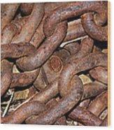 Many Rusty Links Wood Print