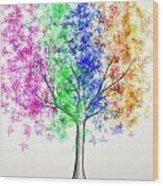 Maple Tree 10 Wood Print