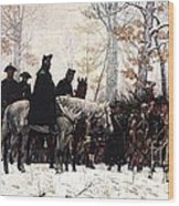 March To Valley Forge Wood Print