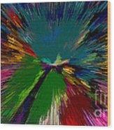 Mardi Gras Abstract Wood Print