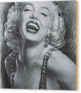 Marilyn Monroe Wood Print by Viola El