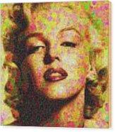 Marilyn Monroe - Maple Leaves Wood Print