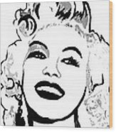 Marilyn What A Beautiful Girl Wood Print