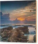 Marineland Beach Sunrise Wood Print