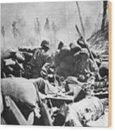 Marines Fight At Tarawa Wood Print
