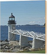 Marshall Point Lighthouse Wood Print by Joseph Rennie