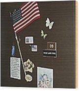 Mary Ann Guss' Patriotic Door Baldwin City Kansas 2002 Wood Print