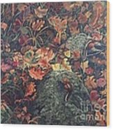 Mary's Chipmunks Wood Print