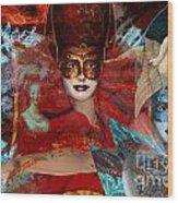Mascarade Wood Print