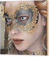 Masquerade Mask Wood Print
