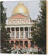 Massachusetts State House - Boston  Wood Print