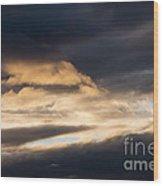 Masses Of Dark Clouds Wood Print